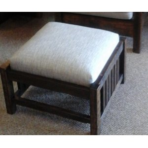 Reclaimed Morris Lounge Large Spindle Ottoman