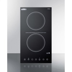 115v 2-burner Cooktop In Black Ceramic Schott Glass With Digital Touch Controls, 2400w -