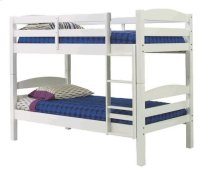 Pine Ridge Square Post Bunk Bed with options: White, Twin over Twin