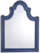 "Caroline Navy Velvet Mirror - 43.5"" W x 43.5"" D x 36"" H Product Image"