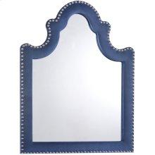 "Caroline Navy Velvet Mirror - 43.5"" W x 43.5"" D x 36"" H"