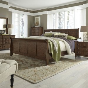 Liberty Furniture Industries Queen Sleigh Bed, Dresser & Mirror, Chest, Ns