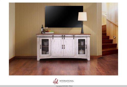 "80"" TV Stand w/4 doors & Shelves inside"