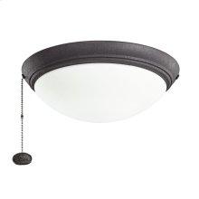 Distressed Black LED fan fixture DBK