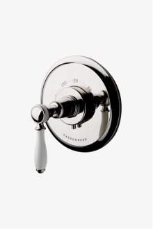 Easton Classic Thermostatic Control Valve Trim with White Porcelain Lever Handle STYLE: EATH08