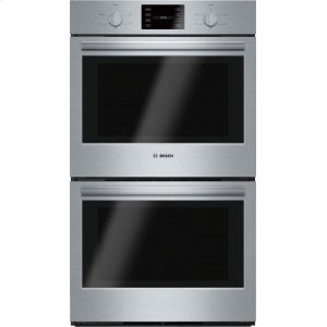 "BOSCH500 Series, 30"", Double Wall Oven, SS, Thermal/Thermal, Knob Control"