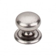 Victoria Knob 1 1/4 Inch w/Backplate - Pewter Antique