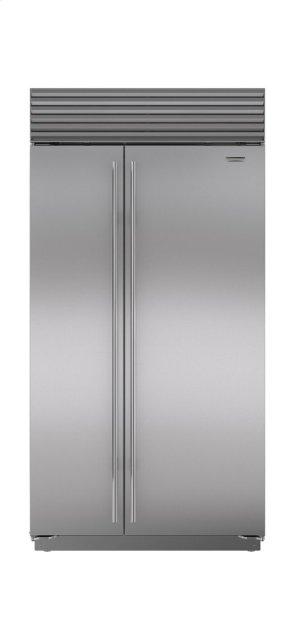 "42"" Built-In Side-by-Side Refrigerator/Freezer with Internal Dispenser"