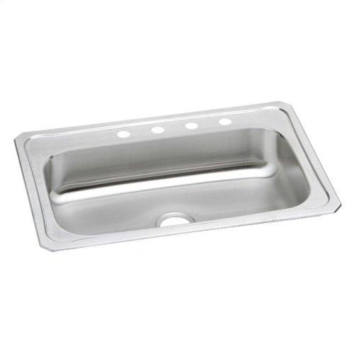 """Elkay Celebrity Stainless Steel 33"""" x 22"""" x 7"""", Single Bowl Drop-in Sink"""