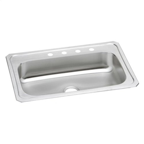 "Elkay Celebrity Stainless Steel 33"" x 22"" x 7"", Single Bowl Drop-in Sink"