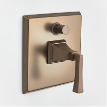 Leyden Pressure-balance Valve with Diverter Trim with Lever Handle - Bronze