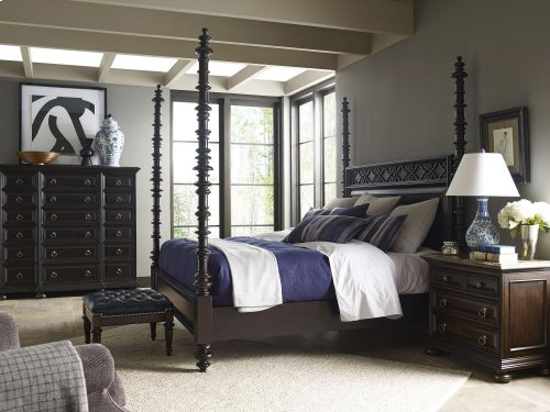 Ernest Hemingway® Lookout Farm Hi/Low Poster Bed (King) (Espresso)