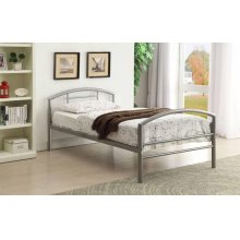 Baines Casual Silver Twin Bed