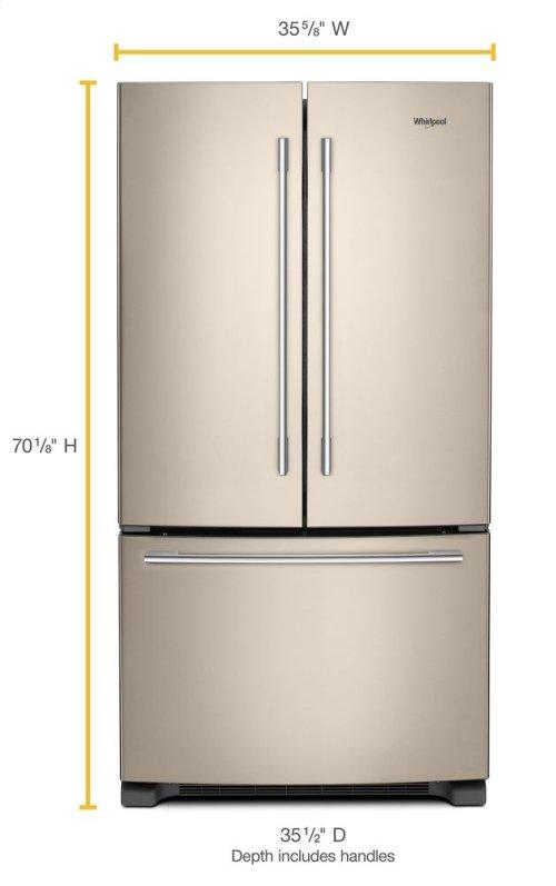 36-inch Wide French Door Refrigerator with Crisper Drawer - 25 cu. ft.