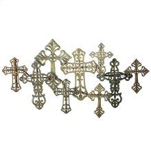 Metallic Multi Cross Wall Decor.