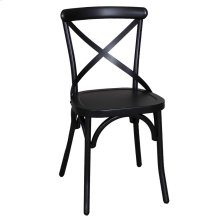 X Back Side Chair - Black