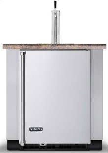 """Stainless Steel 24"""" Built-in Beverage Dispenser - VUBD (Solid door, built-in)"""