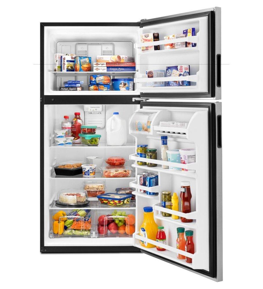 ART318FFDB Amana 30-inch Wide Top-Freezer Refrigerator with Glass ...