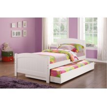 F9218 / Cat.19.p99- TWIN BED W/TRUNDLE WHT