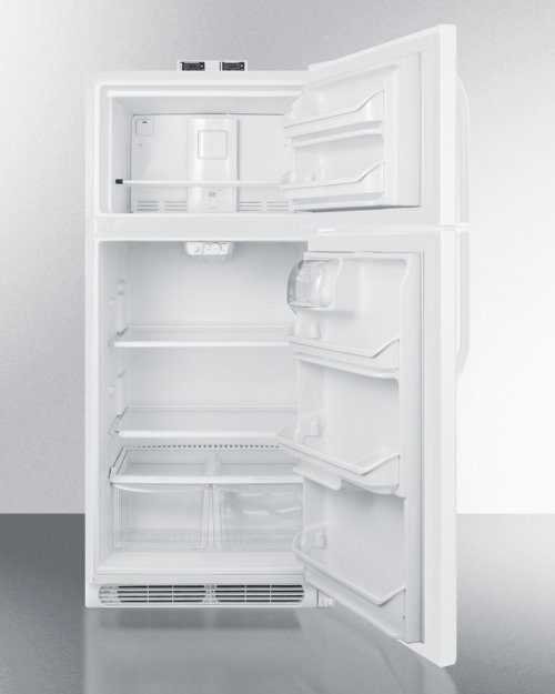 18 CU.FT. Break Room Refrigerator-freezer In White With Nist Calibrated Alarm/thermometers