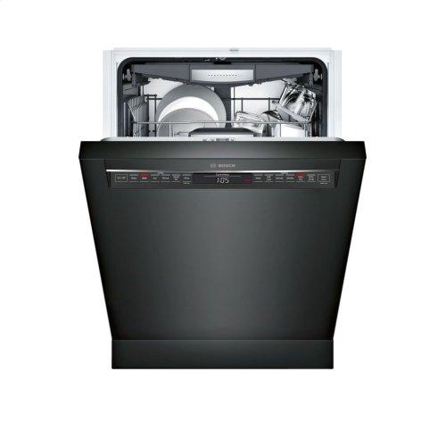 800 Series built-under dishwasher 24'' Black SHE878WD6N