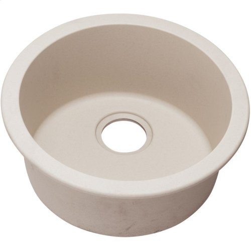 "Elkay Quartz Classic 18-1/8"" x 18-1/8"" x 7-1/2"", Single Bowl Dual Mount Bar Sink, Putty"