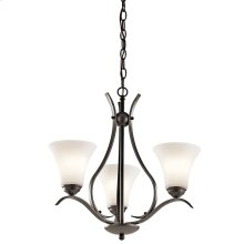 Keiran 3 Light Chandelier with LED Bulbs Olde Bronze®