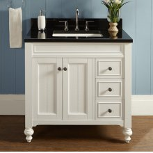 "Crosswinds 36"" Vanity Drawer-Right - White"