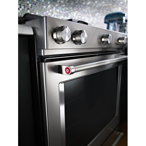 ***DISPLAY MODEL CLOSEOUT*** 30-Inch 5-Burner Dual Fuel Convection Slide-In Range with Baking Drawer - Stainless Steel