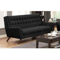 Natalia Mid-century Modern Black Sofa Product Image