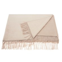 "Throw Sz007 Beige 50"" X 70"" Throw Blanket"