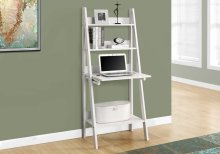 "COMPUTER DESK - 61""H / WHITE LADDER STYLE"