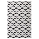 Sigrun Geometric Chevron 5x8 Area Rug in Black and White Product Image