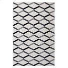 Sigrun Geometric Chevron 5x8 Area Rug in Black and White Product Image
