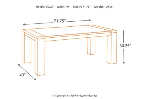 RECT DRM Table w/Glass Top
