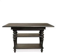 Corinne Dining Table Top 148 lbs Ebonized Acacia finish