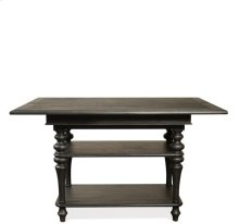 Corinne Dining Table Base 104 lbs Ebonized Acacia finish