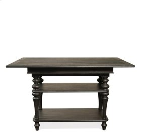 Corinne Dining Table Top 148 lbs Ebonized Acacia finish