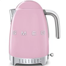 Smeg 50s Retro Style Design Aesthetic Electric Variable Temperature Kettle, Pink