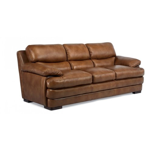 Dylan Leather Three Cushion Sofa Without Nailhead Trim