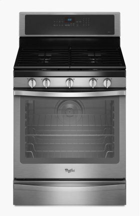 Whirlpool® 5.8 Cu. Ft. Freestanding Gas Range with AquaLift® Self-Cleaning Technology
