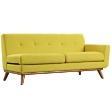 Engage Right-Arm Upholstered Fabric Loveseat in Sunny