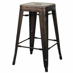 Metropolis Metal Backless Counter Stool, Gunmetal