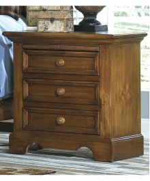 Spacious Three Drawer Night Stand