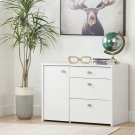 Storage Unit with File Drawer - Pure White Product Image