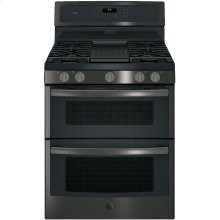 "GE Profile™ 30"" Free-Standing Gas Double Oven Convection Range"