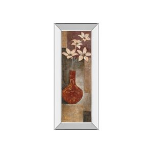 Baroque Floral I By Rosie Abrahams (mirrored Frame)