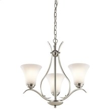 Keiran Collection Keiran 3 Light Chandelier - Brushed Nickel