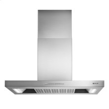 "Euro-Style Stainless 36"" Low Profile Canopy Island Hood"