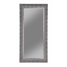 Transitional Black Mosaic Rectangular Mirror